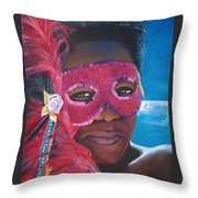 Carnival Mask 1 Throw Pillow