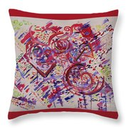 Carnival Mind Throw Pillow