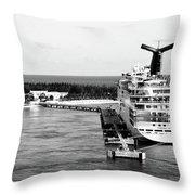 Carnival Sensation Cruise Ship - Grand Turk Island Throw Pillow