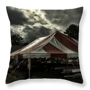 Carnival Tents Throw Pillow