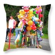Carnival Vendor 3 Throw Pillow