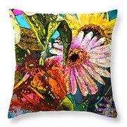 Carnivale Flori Throw Pillow