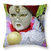 Carnivale Mask #10 Throw Pillow