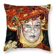 Carnivale Mask #12 Throw Pillow