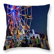 Carny Night 6 Throw Pillow