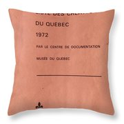 Carole Spandau Archived Liste Des Createurs Du Quebec 1972 Throw Pillow