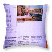 Carole Spandau Listed In Magazin'art Biennial Guide To Canadian Artists In Galleries 2002-2003 Edit Throw Pillow