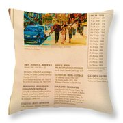 Carole Spandau Listed In Magazin'art Biennial Guide To Canadian Artists In Galleries 2006-2008 Edit Throw Pillow