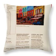 Carole Spandau Listed In Magazin'art Biennial Guide To Canadian Artists In Galleries 2009-2010 Edit Throw Pillow