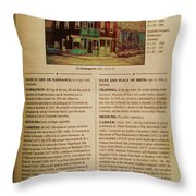 Carole Spandau Listed In The Guide Vallee Peintures Quebecois 1993-1994 Edition Throw Pillow