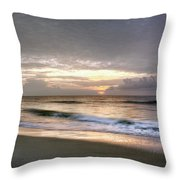 Carolina Beach Morning Throw Pillow