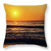 Carolina Beach Sunrise Throw Pillow