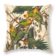 Carolina Parrot Throw Pillow