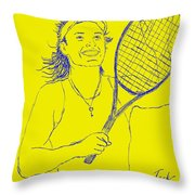 Caroline Wozniacki Throw Pillow