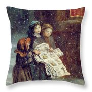Carols For Sale  Throw Pillow