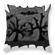 Carols Vampire Throw Pillow