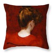 Carolus Duran Study Of Lilia Throw Pillow