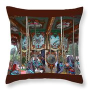 Carousel 2 Throw Pillow