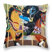 Carousel Beauties Throw Pillow