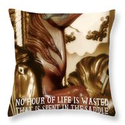 Carousel Color Quote Throw Pillow