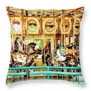 Carousel - Como Zoo, St. Paul, Minnesota Throw Pillow