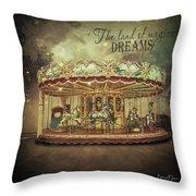 Carousel Dreams Throw Pillow