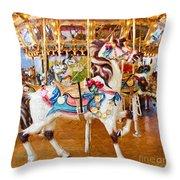Carousel Dreams II Throw Pillow