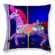 Carousel Floral Beauty Throw Pillow