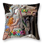 Carousel Horse And Angel Throw Pillow