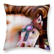 Carousel Horse Portrait Throw Pillow