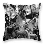 Carousel Horses No.2 Throw Pillow