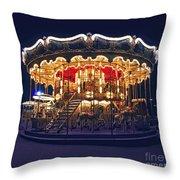 Carousel In Paris Throw Pillow