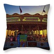 Carousel Sunset Throw Pillow