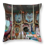 Carousel With Mirrors Throw Pillow