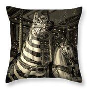 Carousel Zebra Throw Pillow