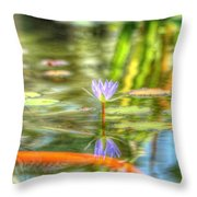 Carp And Lily Throw Pillow