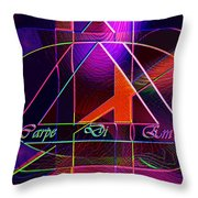 Carpe Diem Orangecross Throw Pillow
