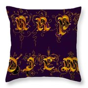 Carpediem Redgold Throw Pillow
