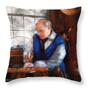 Carpenter - The Woodturner Throw Pillow
