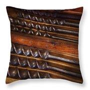 Carpentry - Tool - Archimedes Little Helper  Throw Pillow