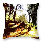 Carpet Of Autumn Leaves Throw Pillow by Patrick J Murphy