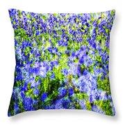 Carpet Of Blue Throw Pillow
