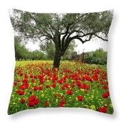 Carpet Of Poppies Throw Pillow