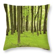 Carpeted Forest Throw Pillow
