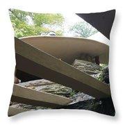 Carport Fallingwater Frank Lloyd Wright Architect  Throw Pillow