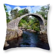 Carr Bridge Scotland Throw Pillow