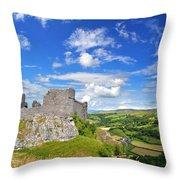 Carreg Cennen Castle 1 Throw Pillow