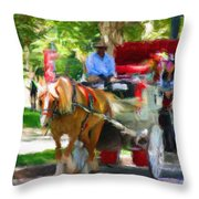 Carriage Colors Throw Pillow