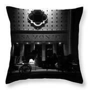 Carriage Ride At The Casa Monica Throw Pillow