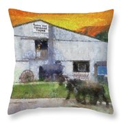 Carriage Tour Mackinac Island Upper Peninsula Michigan Pa 01 Throw Pillow